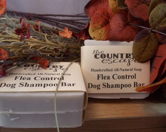 Flea Control Doggy Shampoo Bar Soap- Great Lather - Great Lather - Handcrafted - Organic - Vegan - Natural Soap - Paraben Free