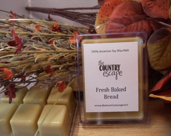Fresh Baked Bread Scented 100% Soy Wax Melt Tart - Authentic Aroma -Triple Scented
