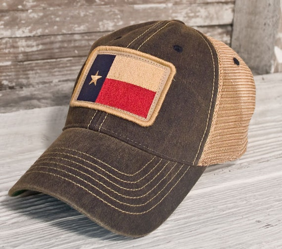 Texas Flag Patch Trucker Hat Black By Statelegacyrevival