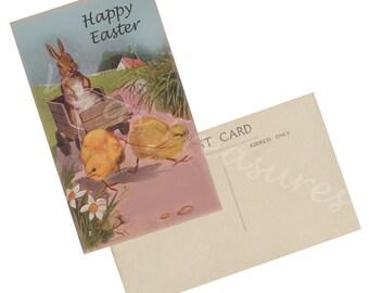 Vintage Style Easter Postcard Digital Images for card making or Crafts