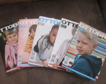 Ottobre Kids Magazines 5 Issues New & Never Used 2007-2008