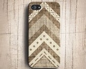Navajo tribal geometric on wood iphone 5S case,geoemetric wood iphone 5 case, iphone 4s case, iphone 4 case