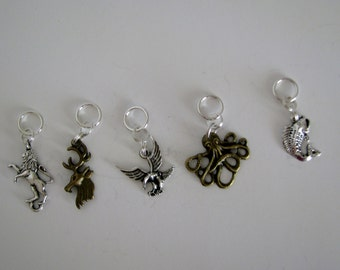 Game of Thrones Metal Charm Knitting Stitch Markers or Pendants