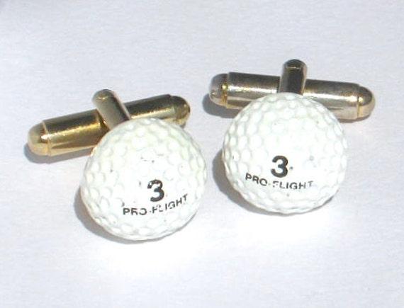 Golf ball cufflink vintage cufflinks mens gift ideas mens for Golf buflings
