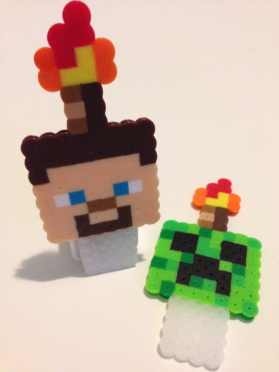 Minecraft Cake Decorations Uk : 2 pcs Inspired Minecraft Cake Toppers Creeper & Steve