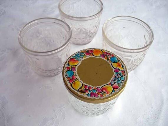 coupon sale set of 4 vintage ball quilted crystal jelly jars. Black Bedroom Furniture Sets. Home Design Ideas