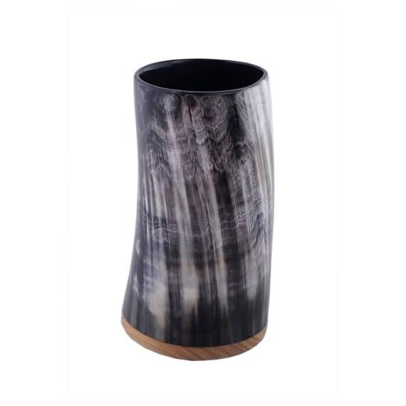 horn becher horn bierkrug viking cup von fineoxjewelry auf etsy. Black Bedroom Furniture Sets. Home Design Ideas
