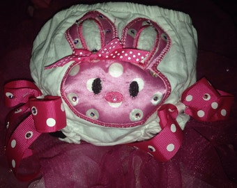 Easter Bunny Diaper/Bloomer Cover