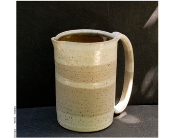 pitcher : white striped