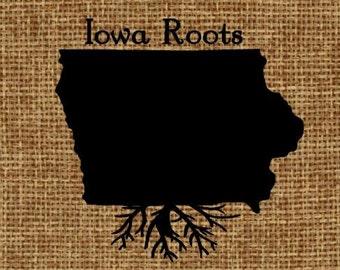 Burlap frame-able art - Iowa Roots