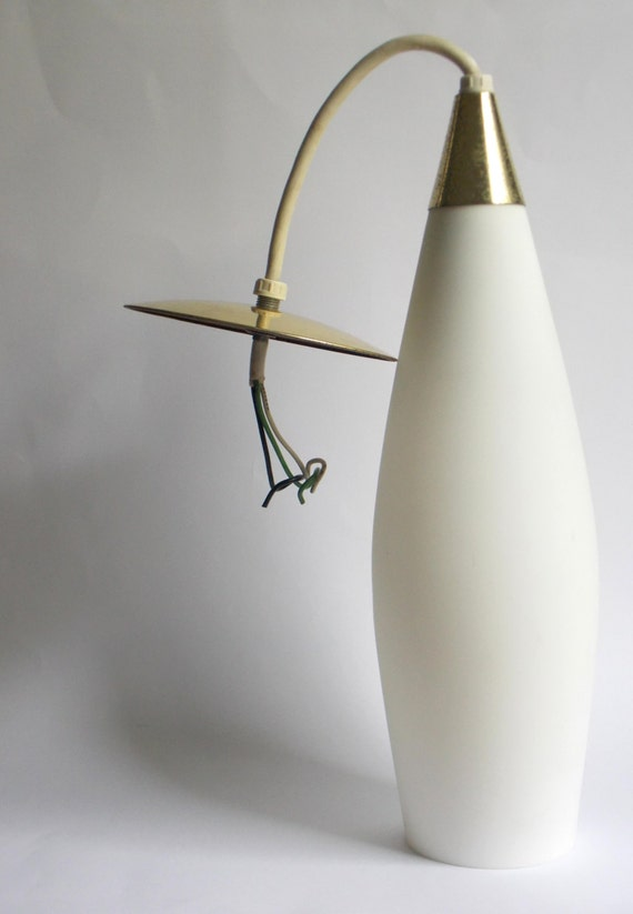 Mid century ceiling pendant light fixture lamp by for Danish modern light fixtures