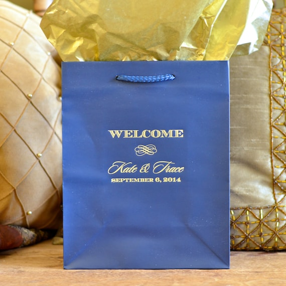 Wedding Welcome Gift Bags for OOT GuestsSet of 35, Custom Gift Bags ...