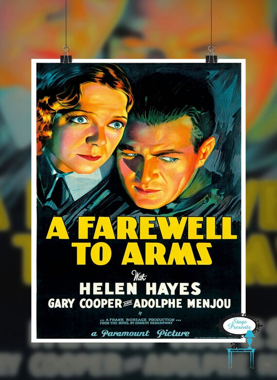 Poster Vintage 1932 A Farewell To Arms Movie Poster A Farewell To Arms Movie Poster