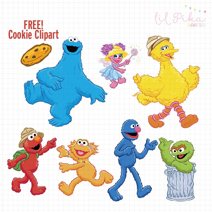Sesame Street Characters Clipart by Parteestry on Etsy