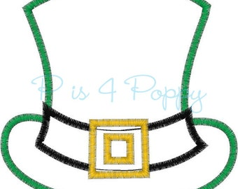 Saint Patrick's day hat applique design