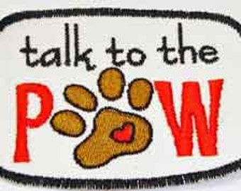 Iron-On Patch - TALK to the PAW