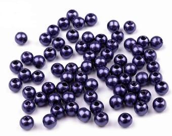 330 beads, 4mm, 20 grams, dar blue (345)