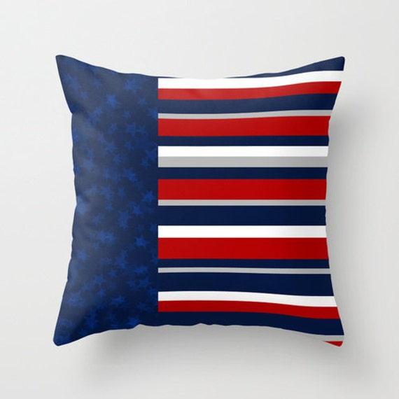 stars and stripes pillow cover red white blue usa flag