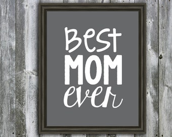 BEST MOM EVER- Download - Last Minute Mother's Day Gift - Mom Quote