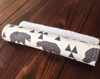 Burp Cloth ~ Geometric//Tribal//Triangle//Bear//Nature//Woodland//Natural