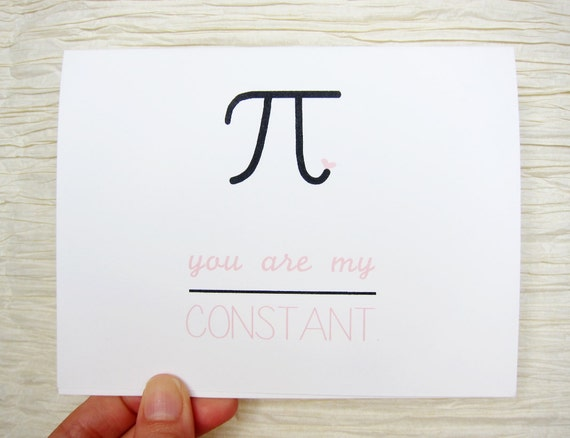"""You Are My Constant"" Card by Witsicle."