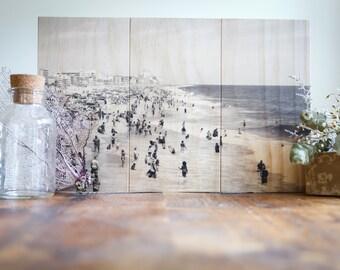 Vintage Ocean City Maryland Photo Printed on Sustainable Wood