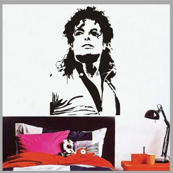 Michael jackson mural art wall window deco removable diy for Jackson 5 mural
