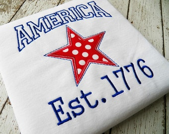 AMERICA machine embroidery design
