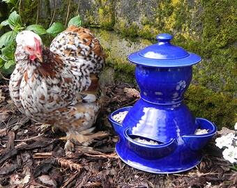 Ceramic Chicken Feeder (size  medium)
