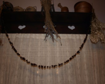 Dried Blueberry Garland  5' - Old Fashion Primitive Christmas Tree Garlands, Strands And Decorations