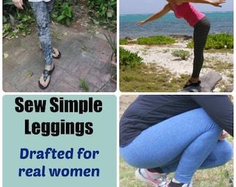 Sew Simple Leggings - PDF Sewing  pattern