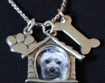 Sterling Silver Custom Dog Photo Necklace