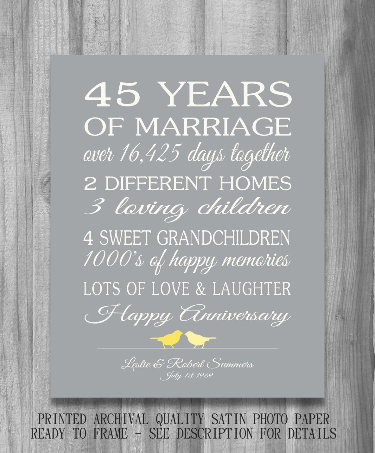 Th wedding anniversary gift customized personalized love