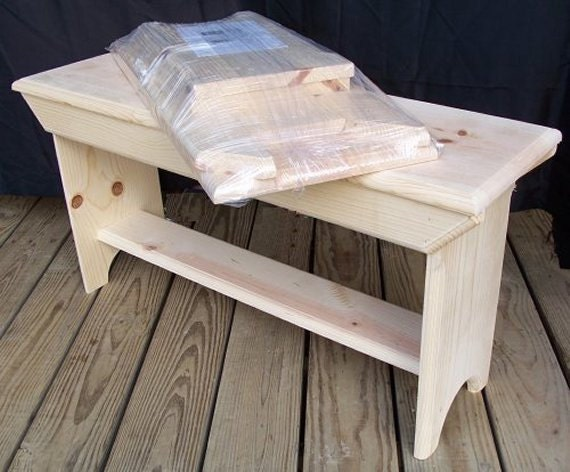 Wooden Bench Kit ~ Boy scout wood bench kit projects by treasurechestkits on etsy