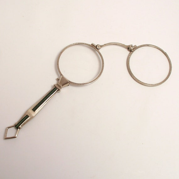 deco enamel and alran lorgnette eye glasses spectacles