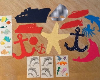 Mrs Grossmans Nautical Theme Stickers and Die Cuts 01