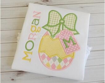 ORIGINAL Custom Girls Easter Egg T- Shirt - Personalized - Applique Shirt - Toddler - Youth- Easter Shirt