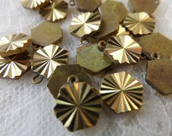 """Raw brass star cut drops,3/8th"""",19pcs-KC400"""