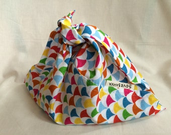 Organic Cotton Lunch Bag - Bunting