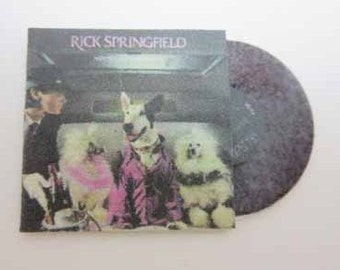 Record Album Rick Springfield Success Hasn't Spoiled Me Yet - dollhouse miniature 1:12 scale