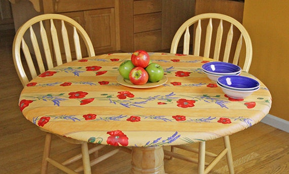Elasticized 3140 Fitted Round Coated Tablecloth