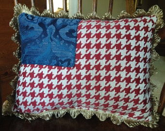 American Flag tapestry pillow, 4th of July, USA... Show your American pride!!! God bless the USA!!