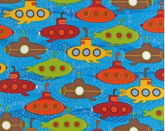 Robert Kaufman Fabric - Splish Splash 3 - Marine - from FQ to a Metre