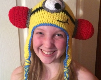 Firefighter Hat Inspired by Minion