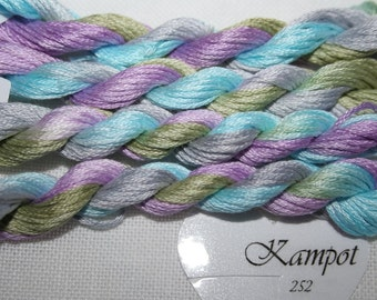 252 – Kampot, Fils à Soso hand dyed variegated stranded cotton, 8 metre skein