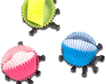 Beetles Mini Petite Fours Cupcake Cases x60 with 30 Beetle Legs
