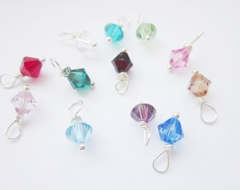 Add on upgrade - Swarovski 6mm crystal wire wrapped birthstone charm