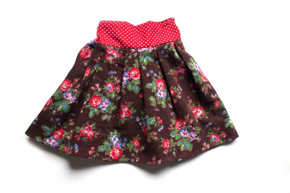 Girls winter cord skirt cath kidston fabric