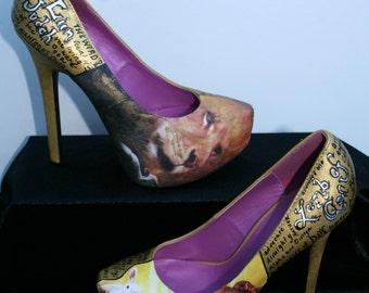 Lion and Lamb Heels Scripture Heels Scripture Shoes Christian Heels Christian Shoes Bible Heels Bible Shoes Names of Jesus Christ
