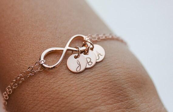 Bracelet infinity or rose